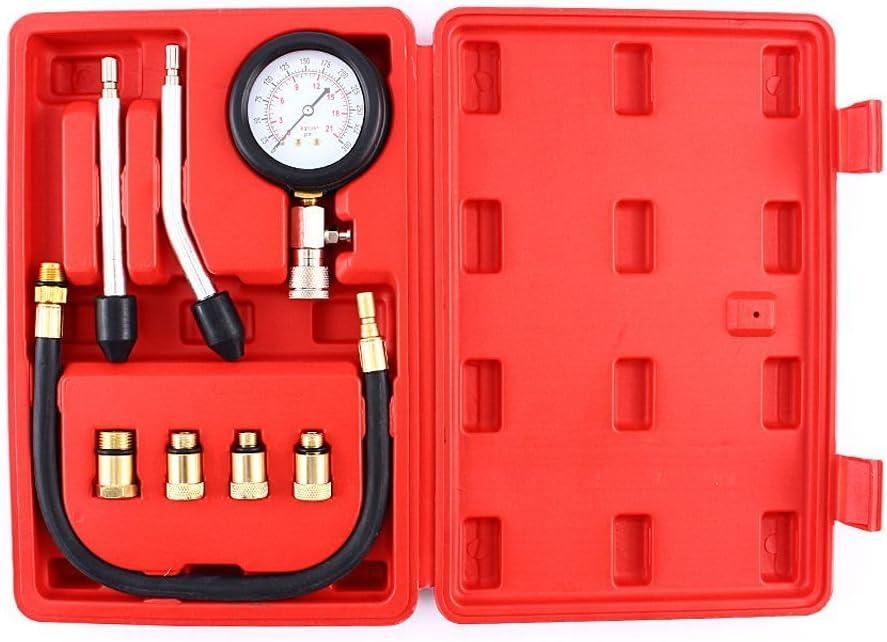TOOGOO Automotive Kit De Testeur De Jauge De Testeur De Compression De Moteur /à Essence De Motos