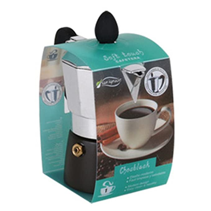 San Ignacio Cafetera 1T Soft Touch Chocblack Negro, Aluminio ...