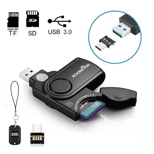 137 opinioni per [USB e micro lettore di schede USB] Rocketek® USB3.0 Lettore schede di memoria |