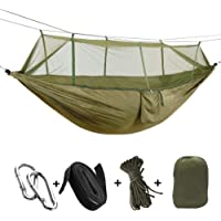 $25 » KEPEAK Single & Double Camping Hammock with Mosquito Net and Tree Straps, Lightweight…