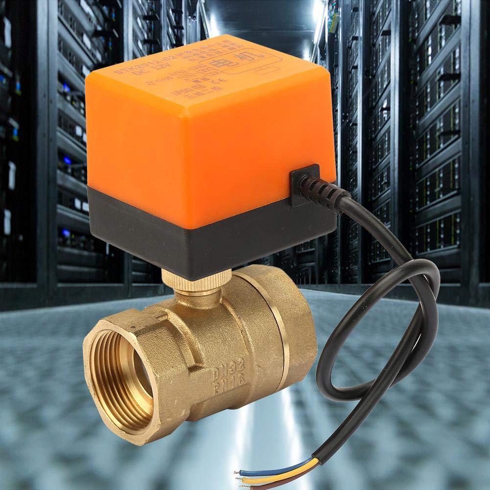 G1-1//4robinet /à tournant sph/érique motoris/é robinet /électrique /à vanne /à boisseau sph/érique motoris/é en laiton DN12 CC 12V 2 fils 3