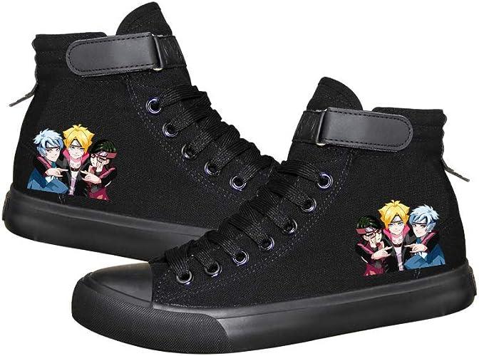 Naruto Zapatos Zapatos de Lona Superiores con Estilo Salvaje ...