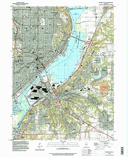 Peoria East IL topo map, 1:24000 scale, 7.5 X 7.5 Minute, Historical, 1996, updated 1997, 26.8 x 22 IN - - Shopping Peoria