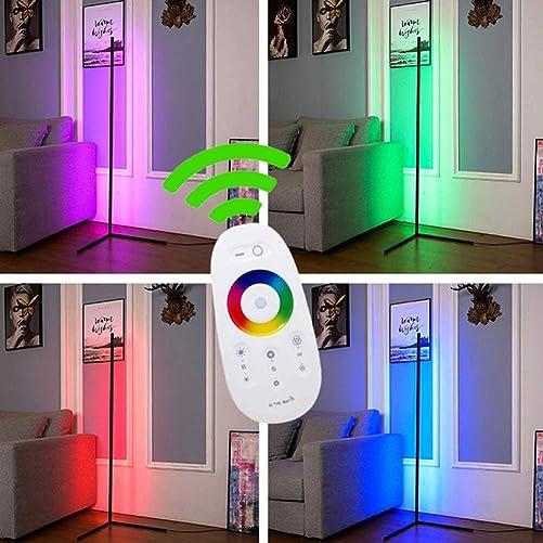 YIYIBO LED Corner Floor Lamp Minimalist LED Corner Floor Lamp RGB Color Changing Standing Lamp