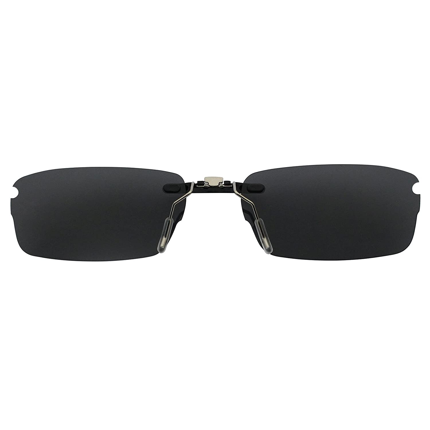 cf8278aa9b Custom Polarized Clip On Sunglasses for Oakley Rhinochaser OX3111 52X19(No  Frame) Black - - Amazon.com
