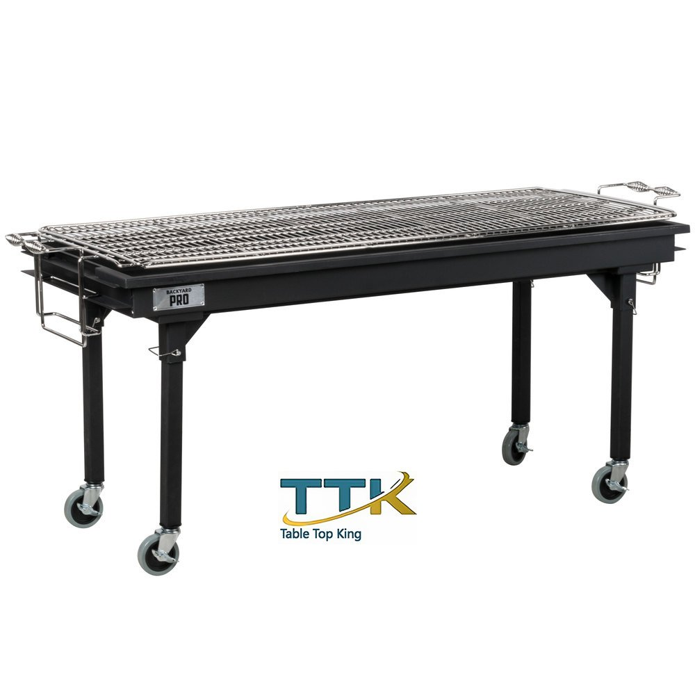 Tabletop King Portable Outdoor Gas and Charcoal Grill / Smoker - Assembled