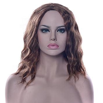 Peluca Para Mujer Pelo Corto Y Rizado En Negro Peluca De Pelo Rizado Corto Pelucas Moda