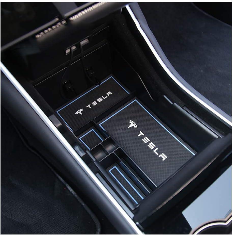 LFOTPP Tesla Model 3 Center Console Organizer Tray Storage Box Coin and Sunglasses Holder 2017 2018 2019 Model 3