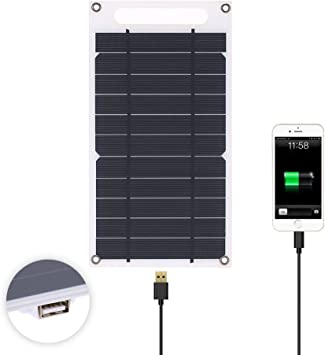 Amazon.com: Lixada 7.8W Solar Panel Charger USB Port ...