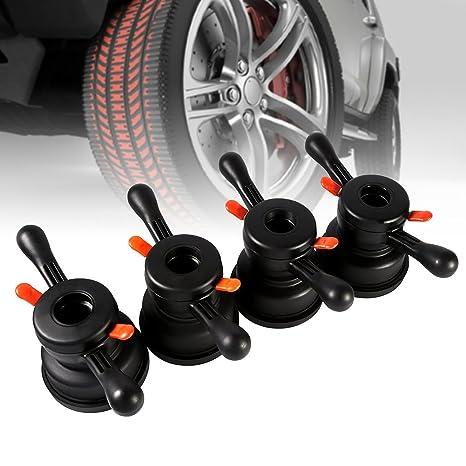 Elerose Herramienta de reemplazo del neumático de la máquina de equilibrado del neumático de la tuerca del ala del cubo(Diámetro interior 40mm Distancia ...