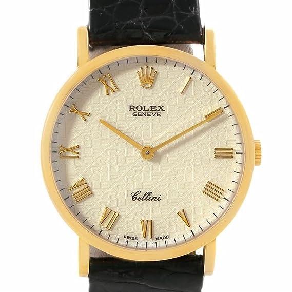 Rolex Cellini 5112 - Reloj mecánico de viento (certificado de autenticidad)