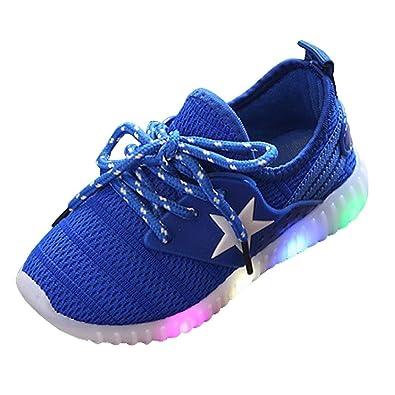 Solike Star Lumineux Chaussures de Sport Enfant Mode Fille Garçon Enfant  Baskets lumière colorée Casual (1-8 Ans)  Amazon.fr  Chaussures et Sacs 67afa9171e17