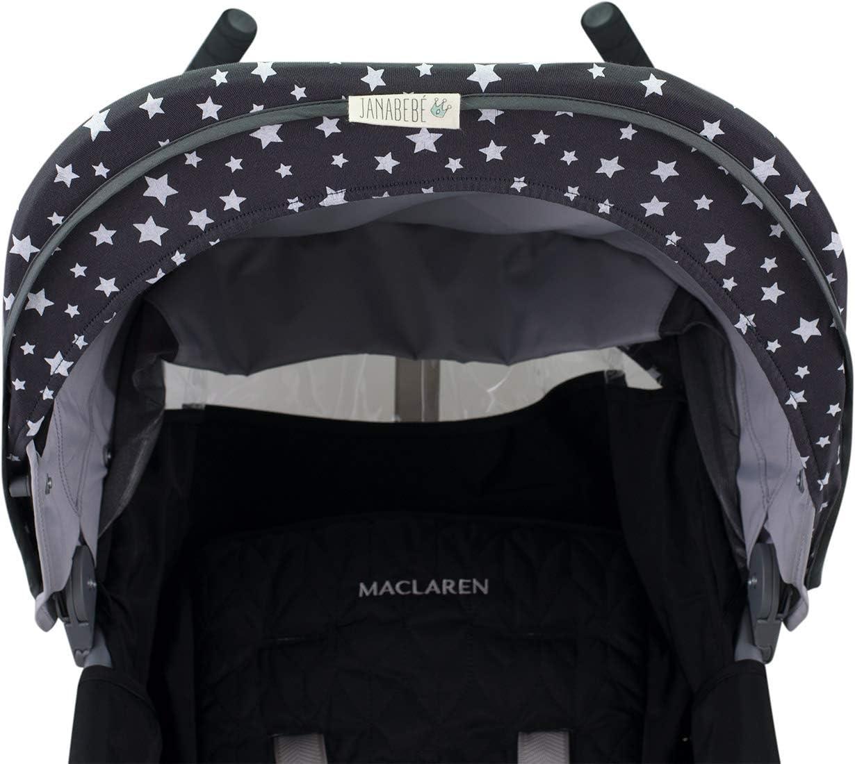JANABEBE Cubre capota para Maclaren Quest BLACK RAYO Techno