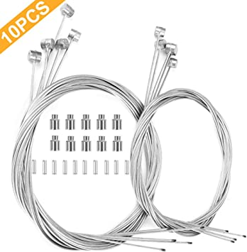 Hotop Juego de Cables y Tapas para Freno de Bicicleta