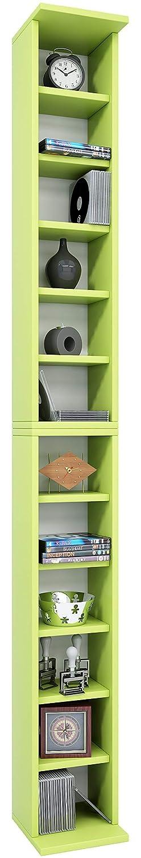 183x21x20 cm Green Wood VCM archiving System Bigol for 204 CDs