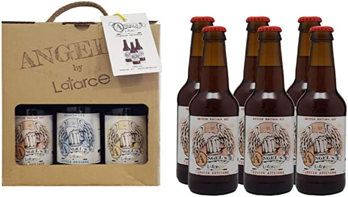 Cervezas Artesanas Latarce | Pack Cartón 6 Cervezas Variedad British Brown Ale Angel's By Latarc...
