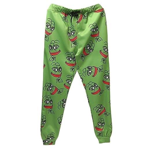 Pantalones para hombre 3D Pepe The Frog Joggers Pantalones Hombres ...
