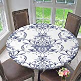 kitchen 67 catering PINAFORE HOME Modern Simple Round Tablecloth Paisley Decorative Motif Drawn Print for wrapp Wallpaper Decoration Washable 63