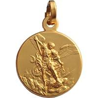 Médaille de Saint Michel Archange en Argent 925 - Plaqué Or