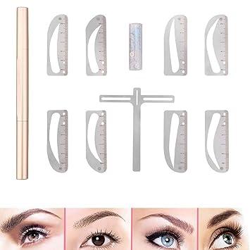 DBSCD Kit de Regla de Plantilla de Cejas Maquillaje Permanente ...