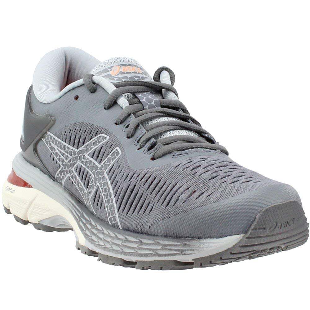 Carbon Mid Grey ASICS GelKayano 25 (D Wide) shoes Women's Running