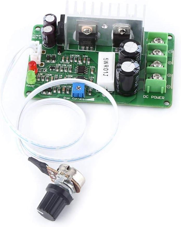 Controlador de Velocidad del Motor PWM, 15A DC 10V ~ 40V 12V, 24V, 36V Regulador del Controlador de Velocidad del Motor Protector de sobrecarga del potenciómetro