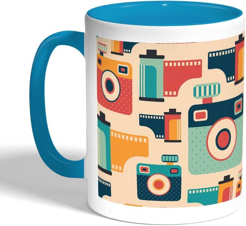 مخدة، قماش كانفس 40cm X 40cm، بتصميم كاميرات و افلام تصوير