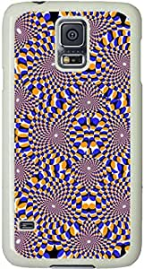 Optical Illusion Circles Galaxy S5 Case, Galaxy S5 Cases - Compatible With Samsung Galaxy S5 SV i9600 - Samsung Galaxy S5 Case Durable Protective Case