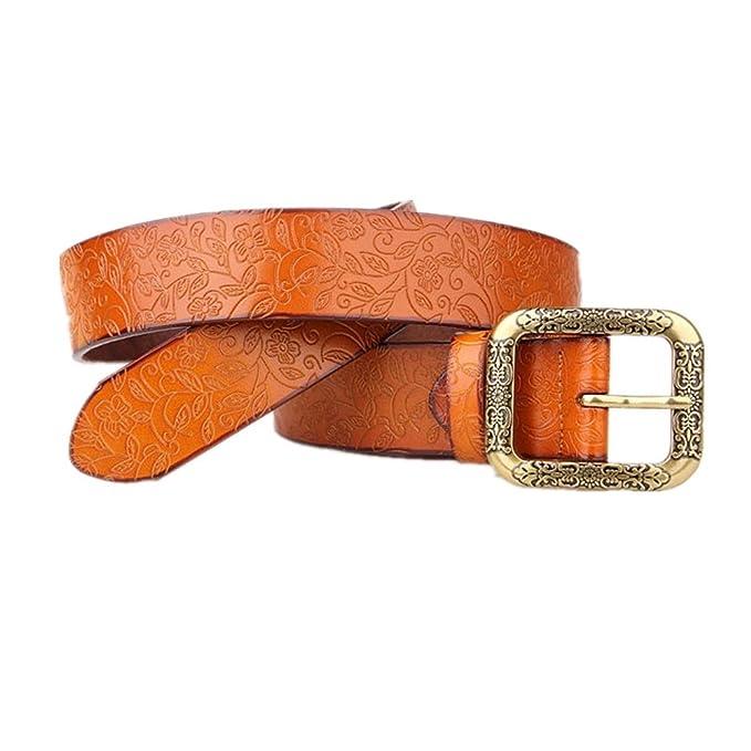 Belingeya Cinturon elástico de Mujer Damas Cinturones de Cuero Puro Cuero  Cinturón Ancho Estudiantes Pantalones Cinturones Todos los Partidos  Adecuado para ... b9a20e727972