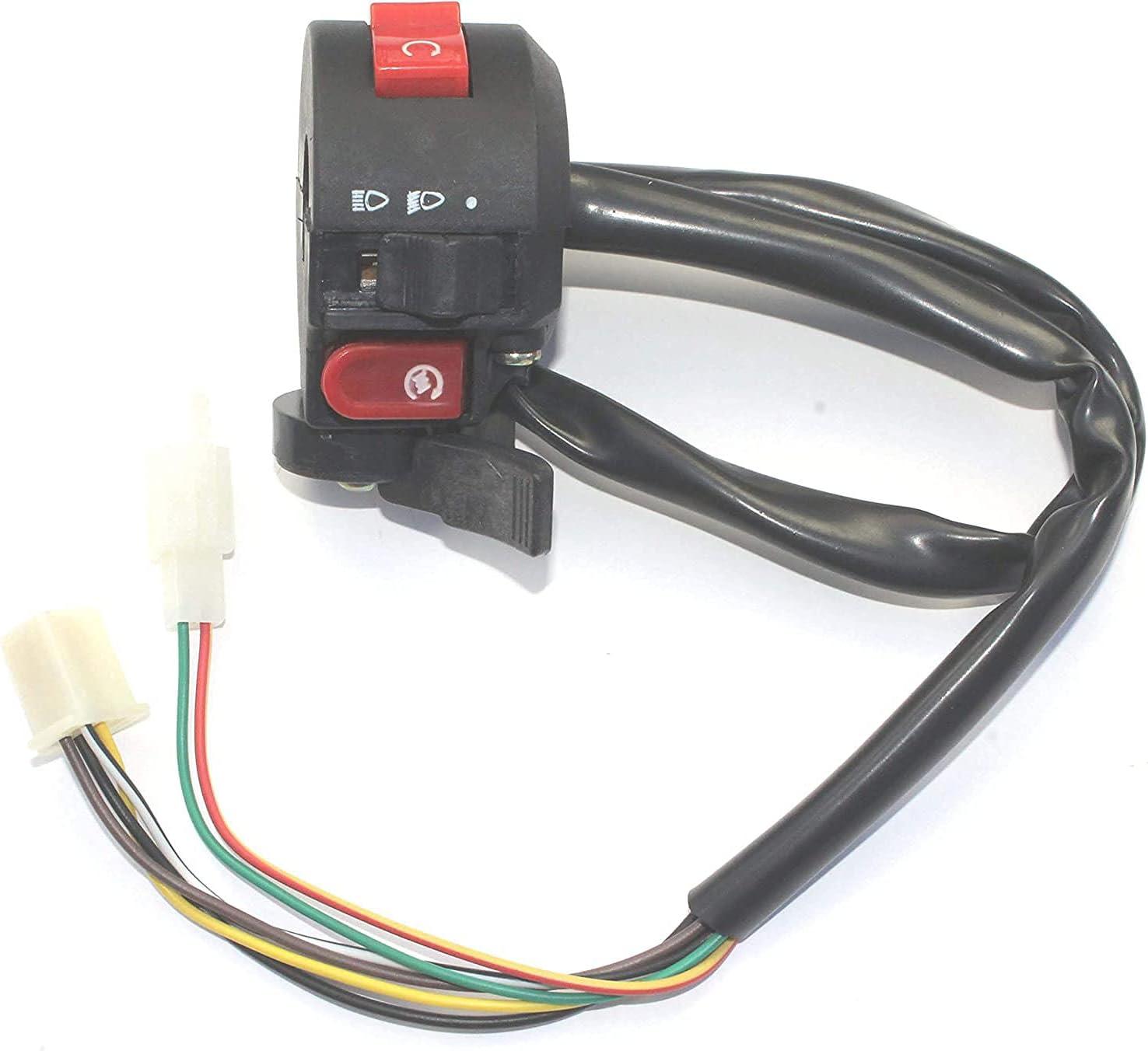 3 Function 8 Wire Kill Light Starter Switch For 7//8 Handlebar ATV 50cc 90cc 110cc 125cc Chinese Taotao Sunl Roketa