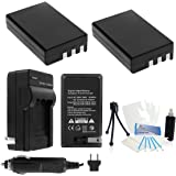 2-Pack EN-EL9a High-Capacity Replacement Batteries with Rapid Travel Charger for Select Nikon Digital Cameras. UltraPro Bundle Includes: Camera Cleaning Kit, Screen Protector, Mini Travel Tripod
