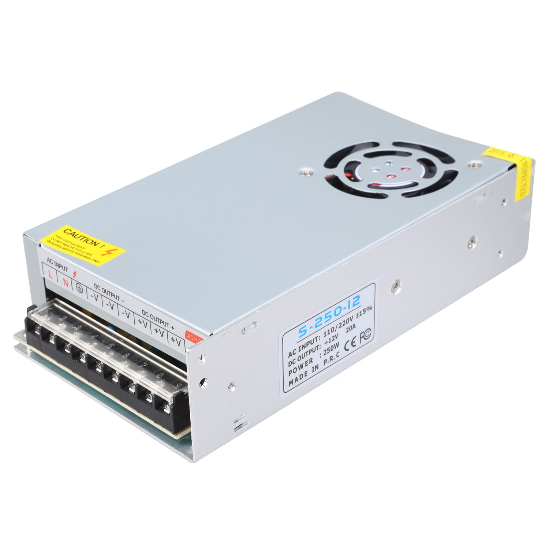 NEWSTYLE AC 110V / 220V a DC 12V 240W 20A Potencia de Conmutación Suministro Entrada Doble Centralizado Supervisión Adaptador Transformador para Impresoras 3D Tira LED