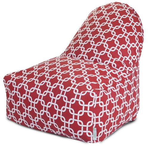 Majestic Home Goods Kick-It Chair, Links, Red