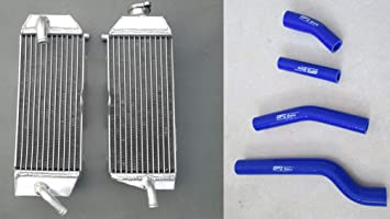 FOR Yamaha YZ400F YZF400 1998 1999 2000 aluminum radiator /& silicone RED hose
