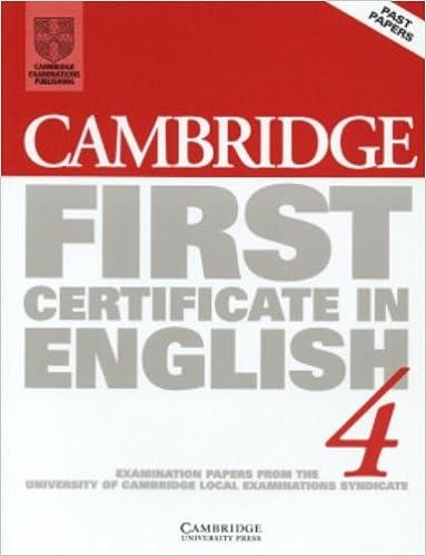 english in book 4 first certificate cambridge