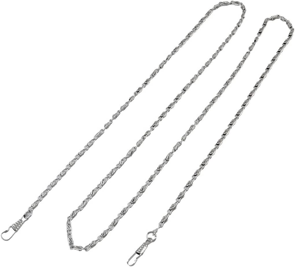 uxcell 120cm Long Silver Metal DIY Replacement Chain Straps for Purse Handbag Crossbody Bag