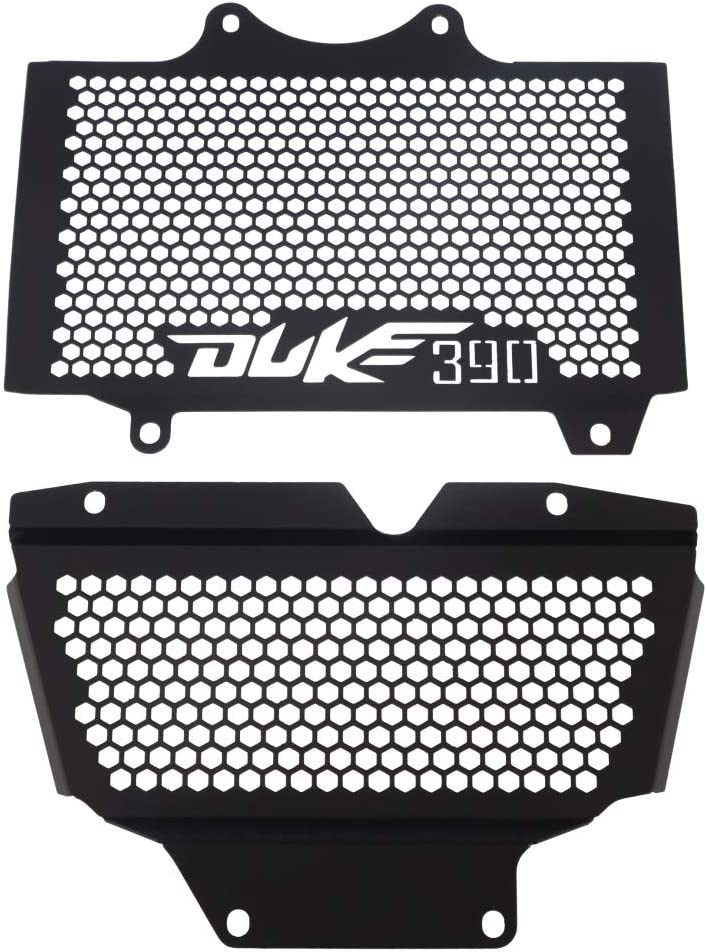 MUJUN Reserve Aluminium Motorrad K/ühlerschutzgitter Schutzwassertank-Schutz for KTM Duke 390 2017-2018 Color : Black