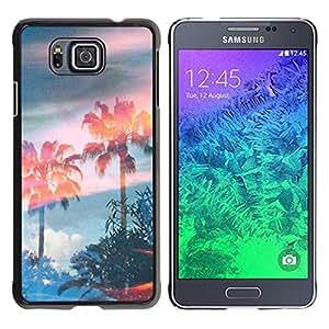 For Samsung GALAXY ALPHA G850 Case , Trees Magic Summer Sky - Diseño Patrón Teléfono Caso Cubierta Case Bumper Duro Protección Case Cover Funda