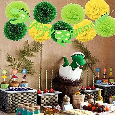 Vunnalise Dinosaurio Cumpleaños Set de Decoración Festa ...