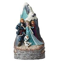 Enesco Disney Tradition Oggetto Decorativo Set Regina della Neve. Olaf Elsa Anna e Hans, Resina, Multicolore