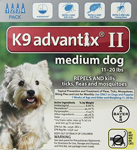 K9 Advantix II Flea and Tick Control Treatment for Dogs