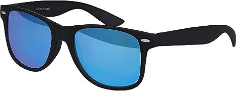 Balinco UV400 gafas de empollón CAT 3 CE originales recauchutado en los vidrios unisex de la vendimia de estilo retro con bisagras de muelle