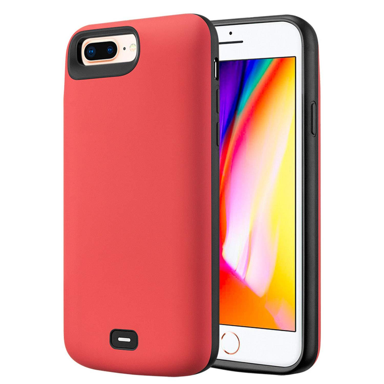 HQXHB Funda Batería para iPhone 6/6S/7/8,5500mAh Funda Cargador Portatil Batería Externa Ultra Carcasa Batería Recargable Power Bank Case para Apple ...