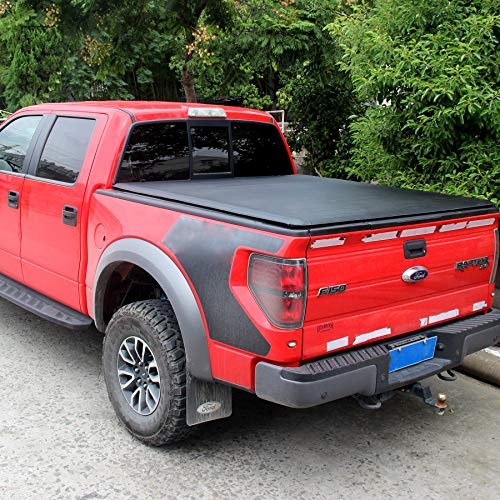 OrionMotorTech Roll up Vinyl Soft Truck Bed Tonneau Cover Fits 2009-2014 Ford F-150 (Excl. Raptor Series) Styleside/Fleetside 5.5' Bed for Models Without Utility Track System