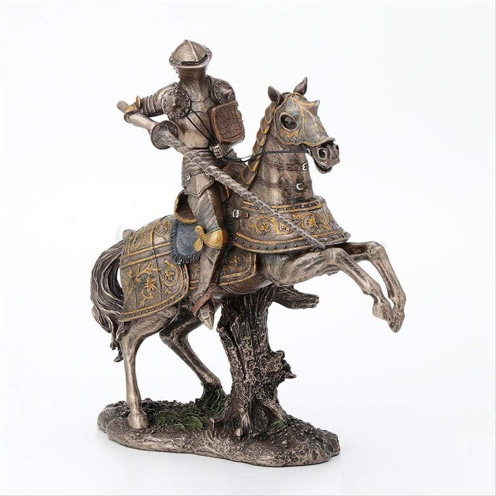 MOGANA Objetos Decoracion Modernos Estilo Chino Tiempos Medievales Samurai Escultura De Arte Guerrero Caballo Estatua Montura Resina Artesanías Decoraciones para El Hogar