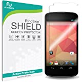 Google Nexus 4 Screen Protector [Military-Grade] RinoGear Premium HD Invisible Clear Shield w/ Lifetime Replacements