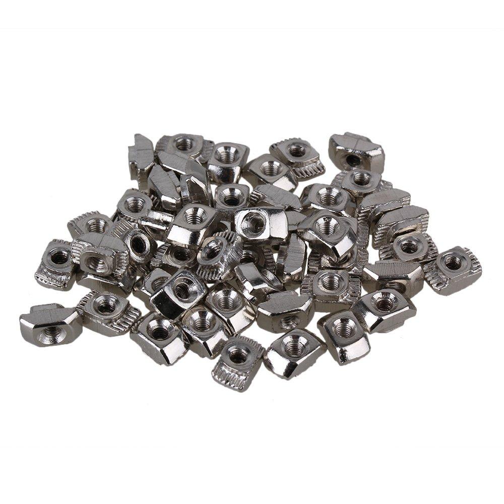 bqlzr Argent Carbon Steel Drop de type T-Nut M3filetage pour 20série europaeischen Profilé en aluminium Extrusion Slot Paquet de 50STUECK BQLZRN00675