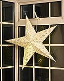 "Large LED Decorative Festive Paper Star Hanging Christmas Lantern Xmas Lights (16"" White Star)"