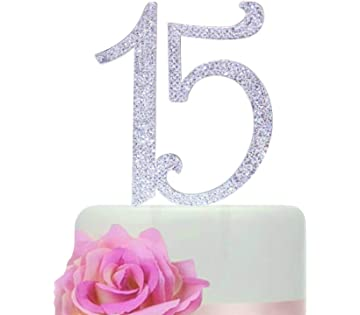 Number 15 Birthday Quinceneara Sweet Cake Topper