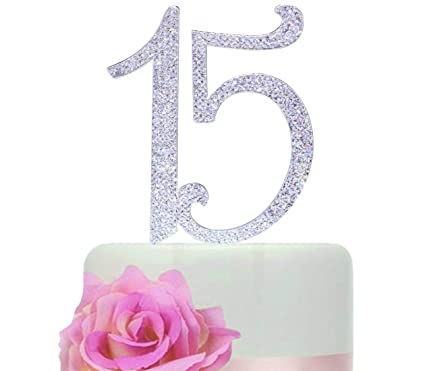Amazon Number 15 Birthday Quinceneara Sweet Cake Topper